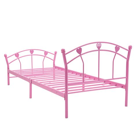 Bn Pink Metal Bed Frame 3ft Single Size For Adults And Pink Metal Bed Frame