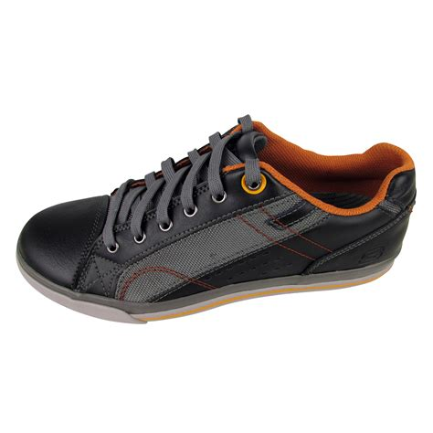 mens memory foam sneakers mens skechers leather sneakers trainers memory foam