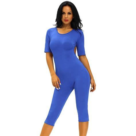 Jumsuit Spandek lc6402s backless jumpsuit womens clothes blue romper