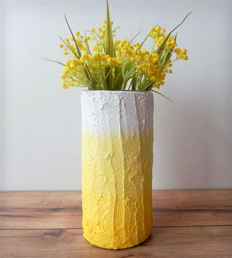 Yellow Vase Decor Yellow Ombre Vase Home Decor Lighting Carriage Oak
