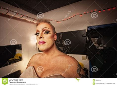 tattoo drag queen drag queen in dressing room royalty free stock image
