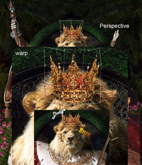 tutorial gambar singa vector screen cara memanipulasi mengubah kepala raja