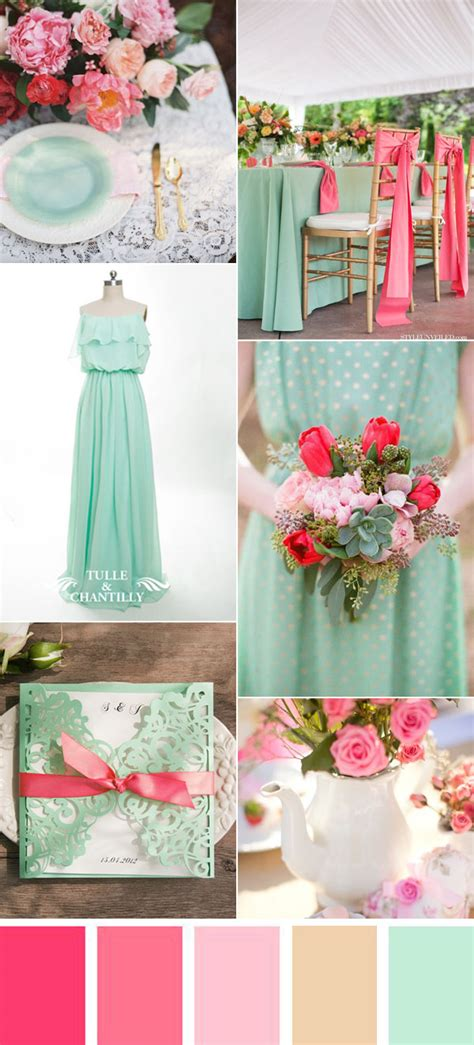 5 Wedding Themes by Five Refreshing Wedding Color Ideas That Brides Will
