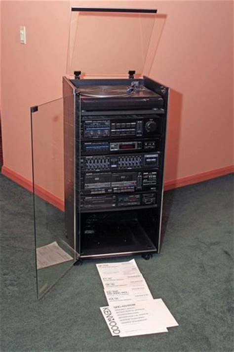 Rack System Stereo by Kenwood Stereo Rack System Cd Player Tuner Cassette