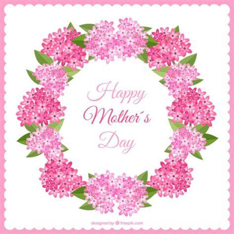 fiori di colore rosa corona di fiori di colore rosa per la festa della mamma