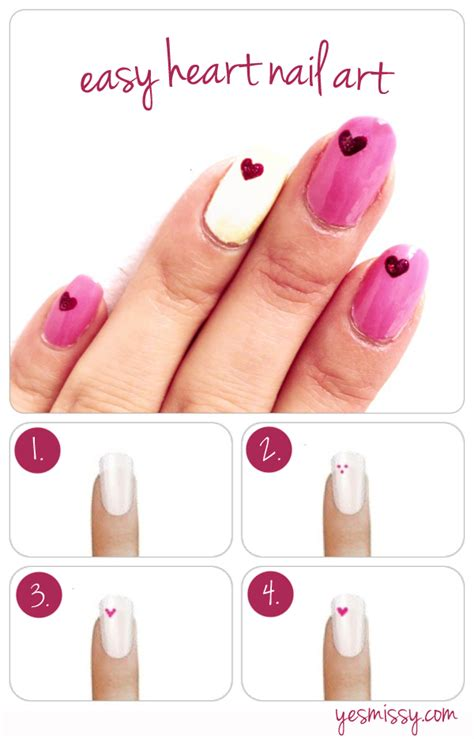 typography heart tutorial nail diy how to create heart nail designs