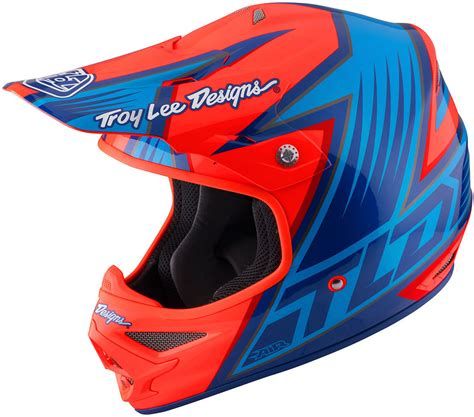 troy lee designs motocross helmets troy lee designs air vengeance orange blue motocross