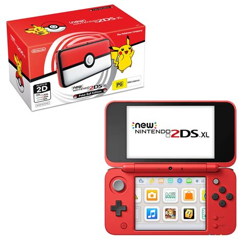 nintendo xl console new nintendo 2ds xl pokeball edition console the gamesmen