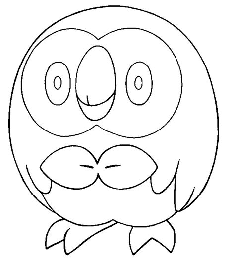 coloring pages of pokemon sun and moon coloring page pokemon sun and moon rowlet 11