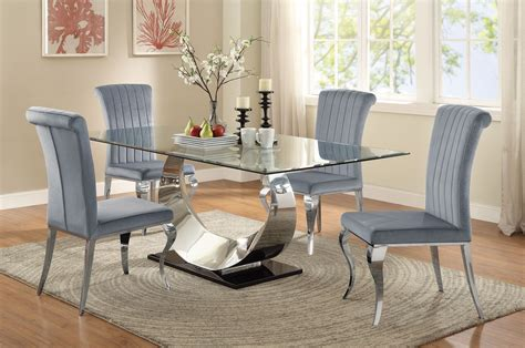 coaster dining room set carone stainless steel dining room set from coaster