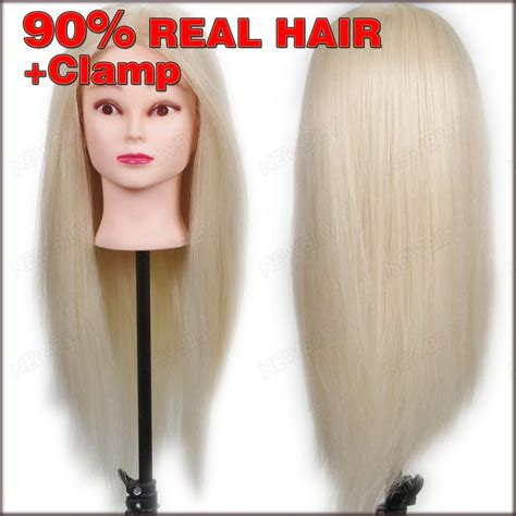 Real Hair Mannequin Heads by New 24 Quot 90 Real Human Hair Practice