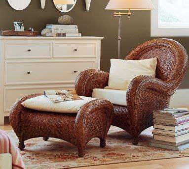 pottery barn wicker chair and ottoman pinterest the world s catalog of ideas