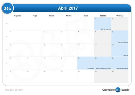 calendario d abril asignacion 2017 calend 225 rio abril 2017