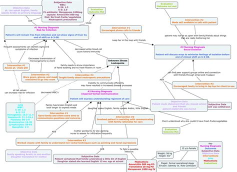 nursing concept map clamb concept map