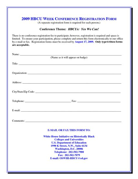 registration form template word free best photos of for conference registration form template