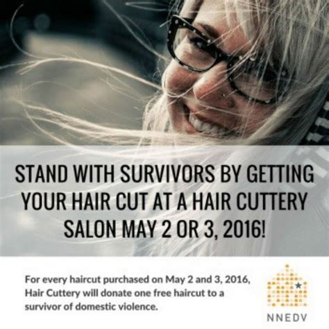 share a haircut and help survivors of domestic violence