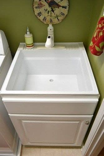 diy utility sink cabinet less pricey sink disguised build a cabinet box around