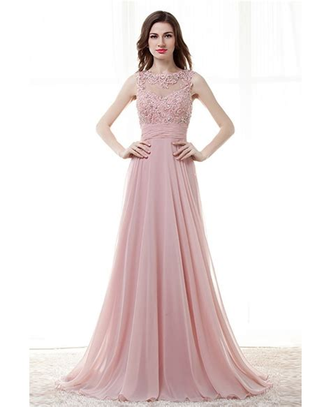 light pink dress light pink a line prom dress with lace beading top
