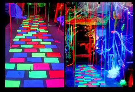black light party decorations like a rock star the details shipwrecked on fabulous