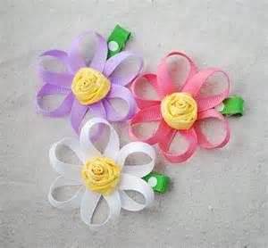 ribbon flowers ribbon flower bows 005 creations by kara