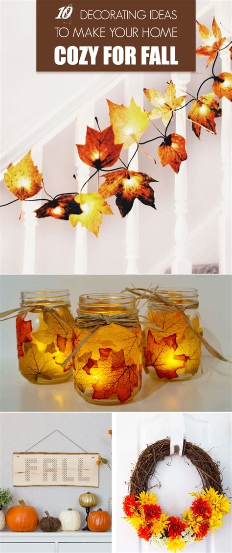 easy to make fall decorations 10 decorating ideas to make your home cozy for fall g 246 r