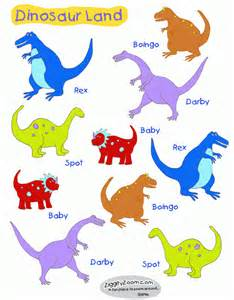 Print these colorful dinosaur stickers and cut out for dinosaur fun
