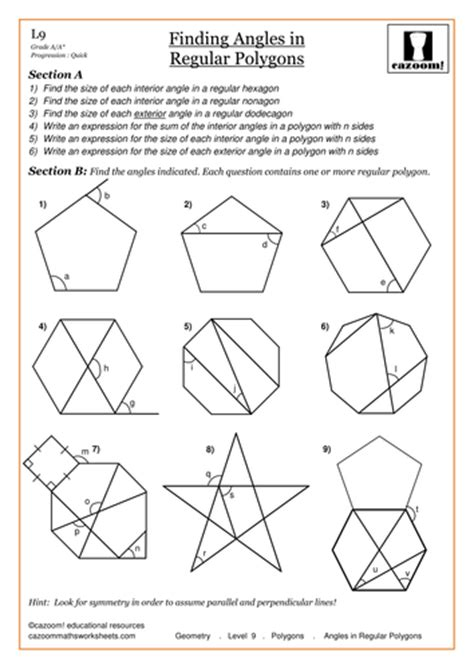 Angles In Polygons Worksheet by Angles In Polygons By Cazoommaths Teaching Resources Tes