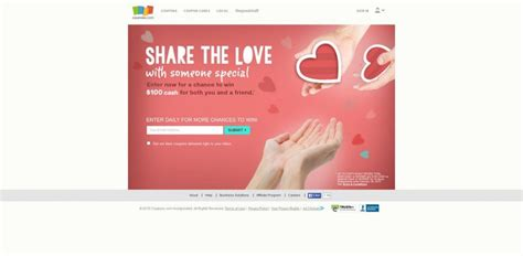 Love Sweepstakes - coupons com share the love sweepstakes