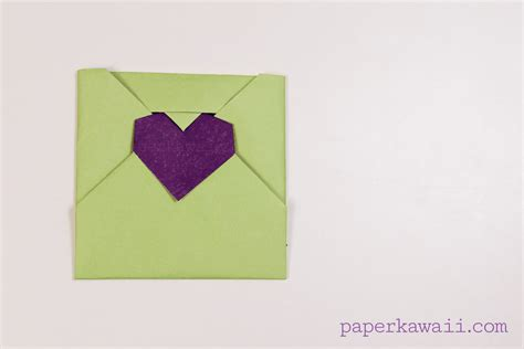 valentine origami tutorial lovers ring origami heart envelope video tutorial paper kawaii