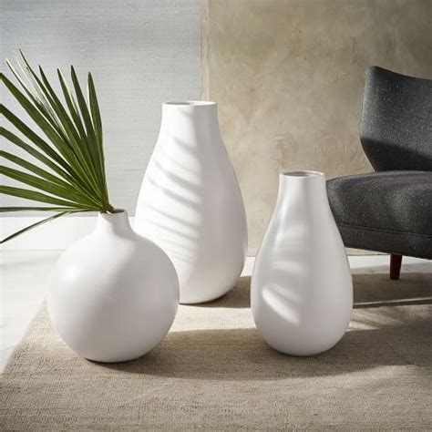 White Large Vase by White Ceramic Large Vases West Elm