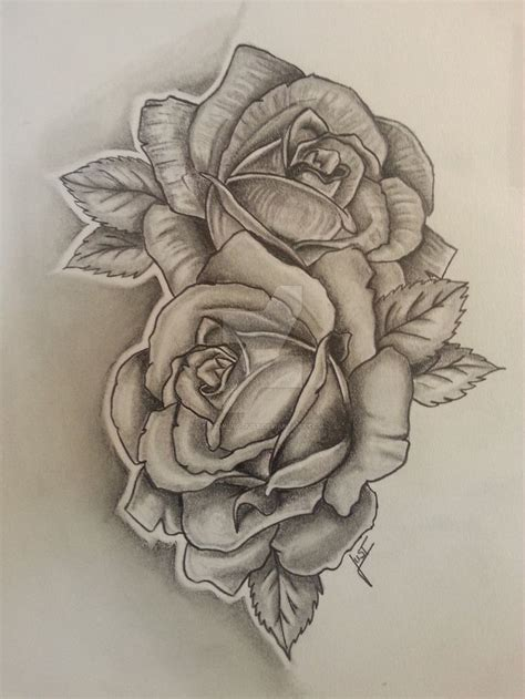 tattoo rose sketch 2 roses tattoodesign by drawing just flower