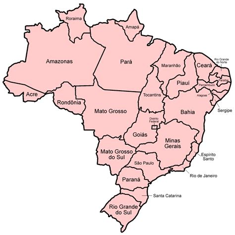 map of brazil with states file brazil states named png