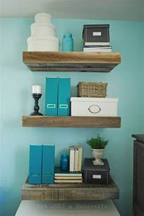 Backyard Wood Fence Reclaimed Wood Floating Shelves Stacy Risenmay
