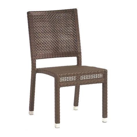 Dining Room Chairs Miami Woodard All Weather Miami Wicker Dining Side Chair S601511