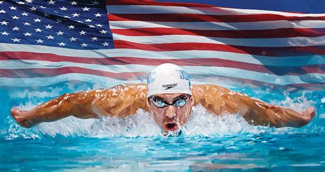 In Graphics If Michael Phelps Michael Phelps Artwork Painting By Sheraz A