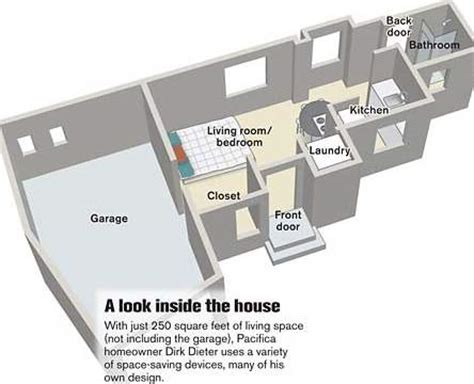 250 square foot apartment floor plan livin large in 250 square feet treehugger
