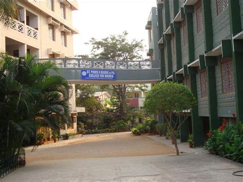 St Joseph College Chennai Mba by St Pious X Degree Pg Mba College For Hyderabad