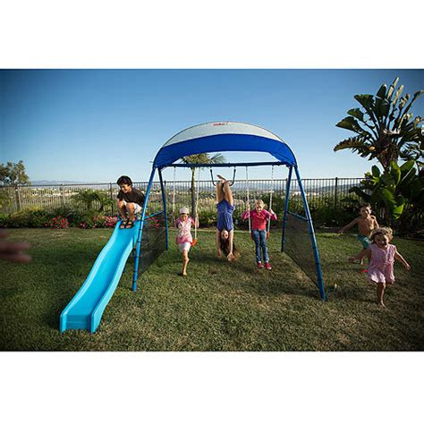 ironkids swing sets ironkids inspiration 150 refreshing mist swing set with uv