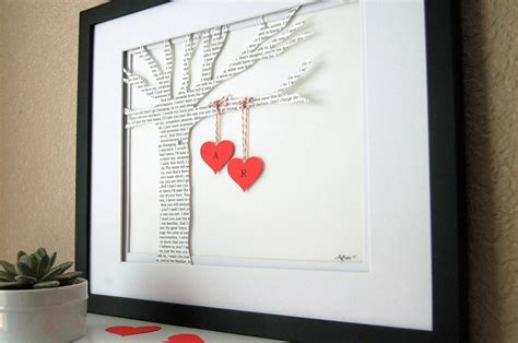Handmade Wedding Presents - creative anniversary gift ideas for