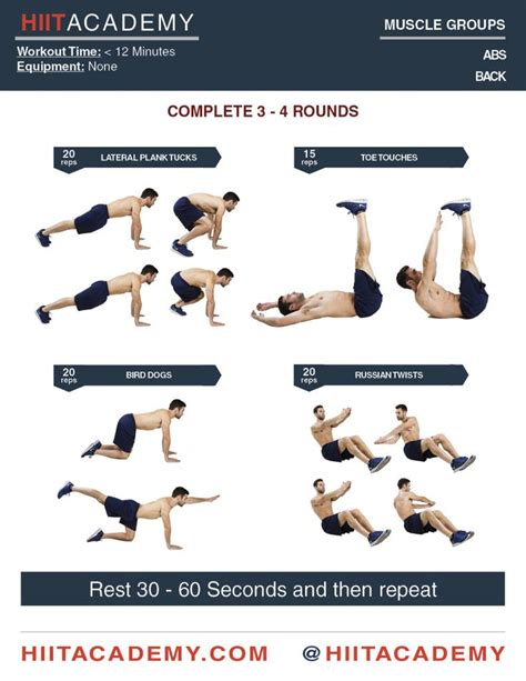 strengthen your with only these 4 exercises hiit s hiit workout abs abs