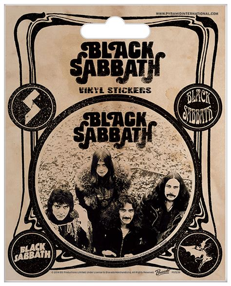 Black Sabbath 5 black sabbath vintage sticker sets 10x12 5