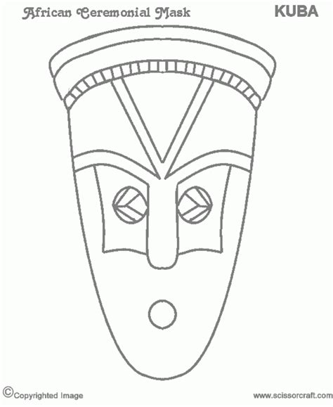 african masks coloring pages az coloring pages