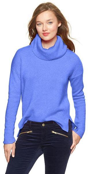 Dress Of The Day Gap Cowl Neck Sweater Dress by Gap Cowl Neck Sweater In Blue Blue Lyst