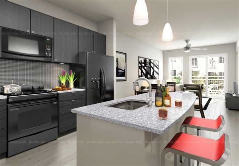 modern kitchen interior 3d rendering kitchen 3d rendering kitchen design 3d view designer