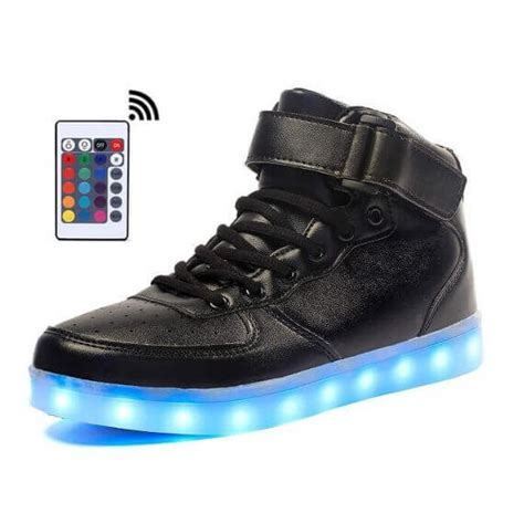 light up shoes with remote led shoes mens black high top remote