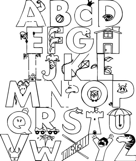 Animal alphabet coloring pages az coloring pages
