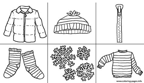coloring page of winter clothes printables winter clothes s723a coloring pages printable