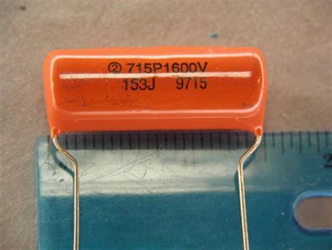 vishay orange drop capacitors 15 sprague 715p 015uf 1600v 5 orange drop capacitors ebay