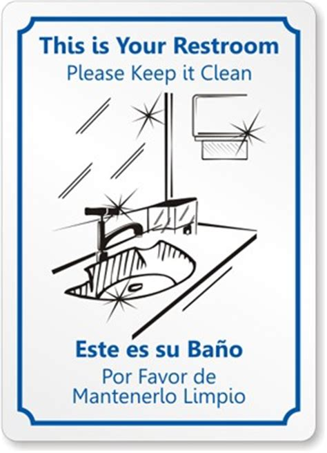 bathroom clean up signs cleanliness quotes for office staff quotesgram