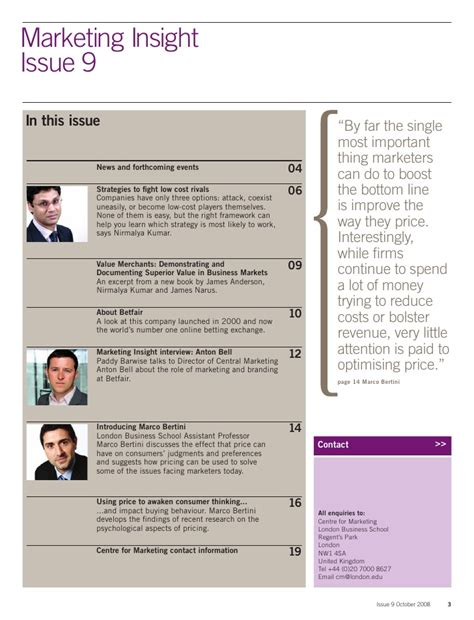 Lbs Mba Term Dates by Business School Insight Marketing Oct 2008